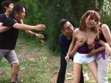 Humiliated Boyfriend Didnt Have Enough Strength To Defend His Girlfriend From Group Of Punks Who Caught Them Making Out