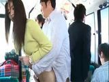 Japanese Wife Fucked In A Bus On Her Way To Work