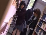 Japanese Schoolgirl Gets Groped And Fucked In A School Library By Senior Student