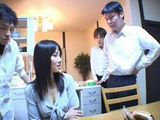 Young japanese Housewife Violated In Kitchen By Three Guys