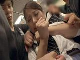 Unfortunate Asian Teen Came Upon On Group Of Perverts In Bus