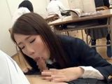 Crazy Schoolgirl Sucks Off Classmates Cock In The Middle Of Class