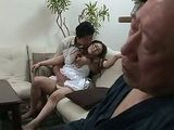Mirai Haneda Wife Fucked While Old Husband Sleeps In Wheel Chair