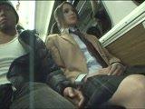 Brunette Schoolgirl Grope By a Japanese Guy