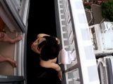 Japanese Girl Takanashi Ayumi Face Fucked And Creampied On A Balcony