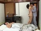 Son Awakes His Mother Akemi Ehara In The Middle Of The Night To Fuck Her While His Father Sleeps