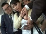 Housewife Kirishima Ayako Harassed In Public Bus By Group Of Pushy Passengers