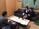 Husband Brought His Wife Yuuki Maeda On Job Interview and New Boss Tested Her Well