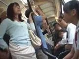 Mother Groped and Fucked While With Daughter in Bus