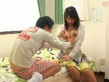 Big Boobed Asian Maid Use Her Brake Fucking With Young Gardener