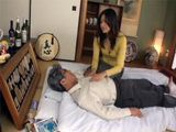 Japanese Wife Enjoys Nursing Father IN Law While Husband Is Away