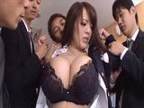 Busty Milf Boss Hitomi Tanaka Gets Punished By Angry Employees