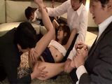 Pervert Boss Tied Up His Employee And Abused His Wife Konno Hikaru Right In Front Of Him With Help Of Other Employers