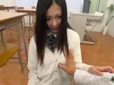 Japanese Schoolgirl Gets Touched By Pervert Teacher In A Classroom While Picking Up The Papers