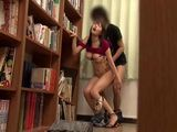 Busty Japanese Schoolgirl Gets Fucked In A School Library By Her Classmate