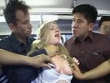 German Coed Schoolgirl Gets Groped And Gangbanged By Group Of Horny Passengers In Japanese Bus