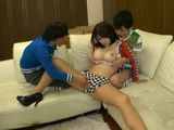 Blackmailed Stepmom Anri Okita Gets Fucked By Her 2 Naughty Teenage Stepsons