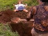 Teen Knocked Down  Fucked and Wasted In The Field Fuck Fantasy
