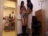 Japanese Cooking School Student Gets Fucked In A Storage During Classes By a Kitchen Chef