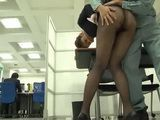 Japanese Business Lady Gets Attacked By Janitor In Her Office But She Kind Of Liked It  part 1
