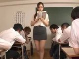 Milf Teacher With Glasses Spreads Unbearable Sexual Temptation