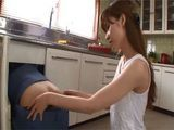 Busty Japanese Housewife Yuna Hayashi Grabs Plumbers Ass Who Fucked Her In The Kitchen While Husband Was At Work