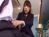 Horny Schoolgirl Aisaka Haruna Fucking Her Classmate In A Classroom