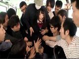 Japanese Student Ai Uehara Gets Attacked In A Public Bus And Gangbanged By Bunch Of Horny Passengers